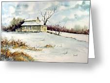 Winter Washday Greeting Card