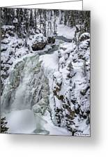 Winter Waterfall Greeting Card