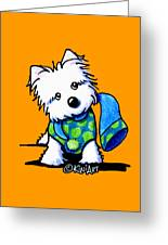 Winter Westie With Lime Greeting Card