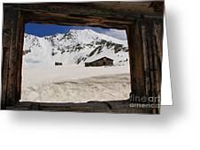 Winter Window View Greeting Card