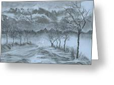 Winter With My Lover Greeting Card