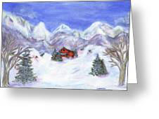 Winter Wonderland - Www.jennifer-d-art.com Greeting Card