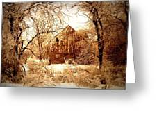Winter Wonderland Sepia Greeting Card by Julie Hamilton