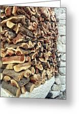 Winter Woodpile Greeting Card