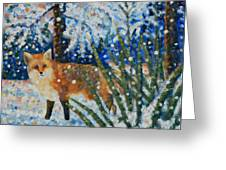 Winter Yucca / Red Fox Greeting Card