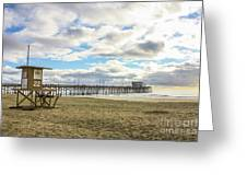 Winters Beach Greeting Card