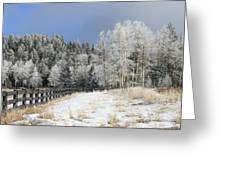 Winters Day In The Mountains Greeting Card