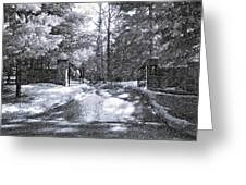 Winter's Gates Greeting Card