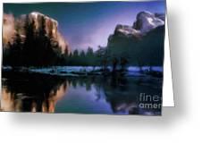 Winters Lake Greeting Card