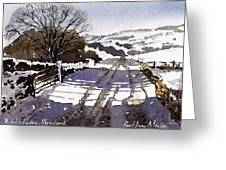Winters Lane Stainland Greeting Card
