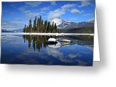 Winters Mirror Greeting Card