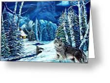 Winters Night 2 Greeting Card by Darlene Green