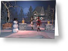 Winters Night Greeting Card