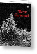 Winter's Night- Vertical Greeting Card by Methune Hively