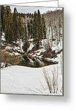 Winters Pond Greeting Card