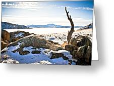 Winter's Silence - Pathfinder Reservoir - Wyoming Greeting Card