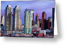 Winter's Sky Over Calgary Greeting Card by David Buhler