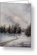 Winters Sunset Greeting Card