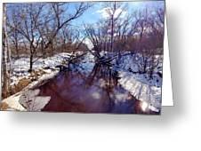 Wintertime In Necedah  Greeting Card