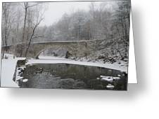 Wintertime In The Wissahickon Valley Greeting Card