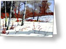 Wintertime Painting Greeting Card