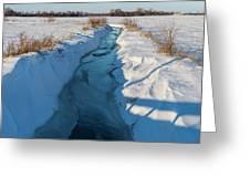 Wintery Creek Greeting Card