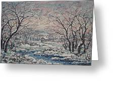 Wintery December Greeting Card