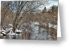 Wintery River Greeting Card