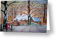 Wintry Evening Greeting Card