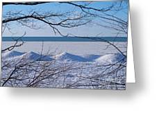 Wintry Lakeshore Greeting Card
