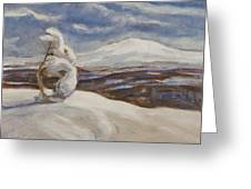 Wintry Landscape Greeting Card