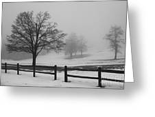 Wintry Morning Greeting Card