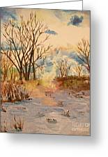 Wintry Walk Greeting Card