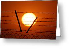 Wire And Sun Greeting Card