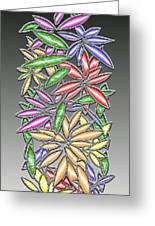 Wire Flowers Greeting Card