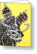 Wire Warthog Greeting Card