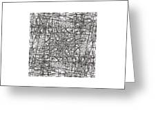 Wired Abstraction Greeting Card