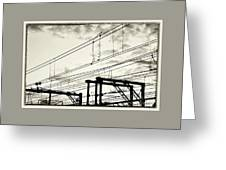 Wires And Coils Silhouette Greeting Card