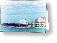 Wisby Atlantic - Incoming Ship Greeting Card