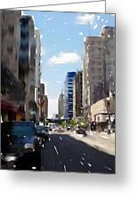 Wisconsin Ave 2 Greeting Card