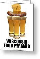 Wisconsin Food Pyramid Greeting Card