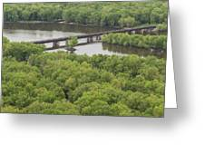 Wisconsin River Overlook 2 Greeting Card