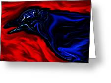 Wise Old Crow In Strange Light. Greeting Card