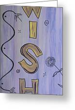 Wish Acrylic Watercolor Greeting Card