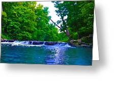 Wissahickon Waterfall Greeting Card by Bill Cannon