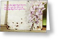 God Is The Light Inspirational Floral Still Life Greeting Card