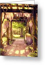 Wisteria In Watercolor Greeting Card