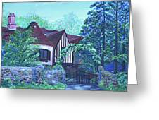 Wisteria Mansion Greeting Card