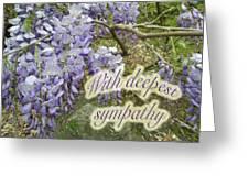 Wisteria Sympathy Card Greeting Card