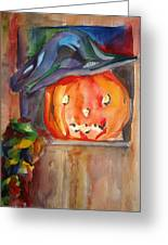 Witch Pumpkin Greeting Card